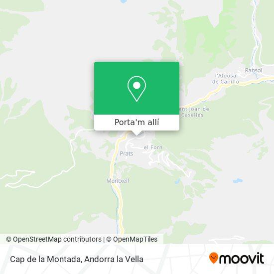 mapa Cap de la Montada