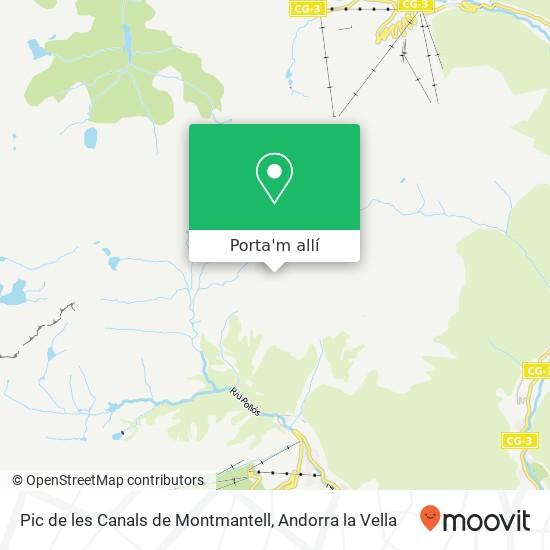 mapa Pic de les Canals de Montmantell