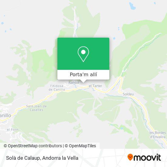 mapa Solà de Calaup