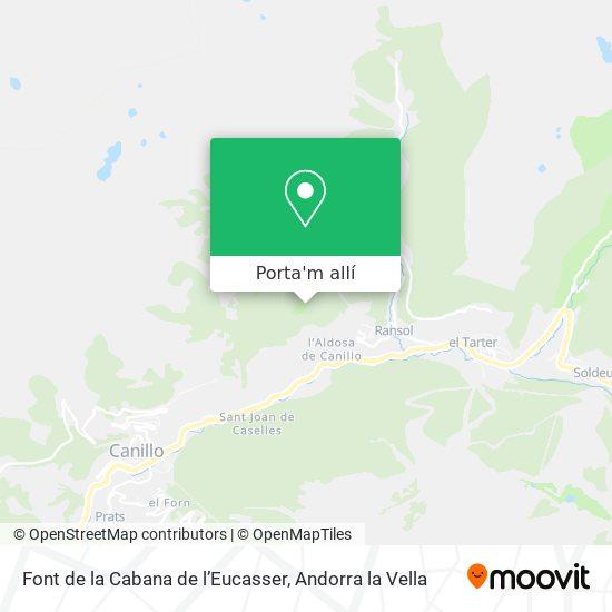 mapa Font de la Cabana de l'Eucasser