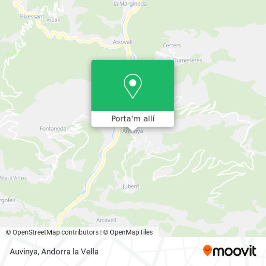 mapa Auvinya