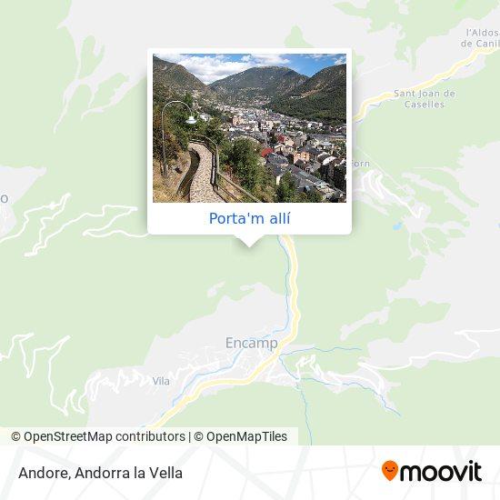 mapa Andore
