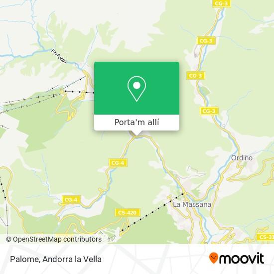 mapa Palome