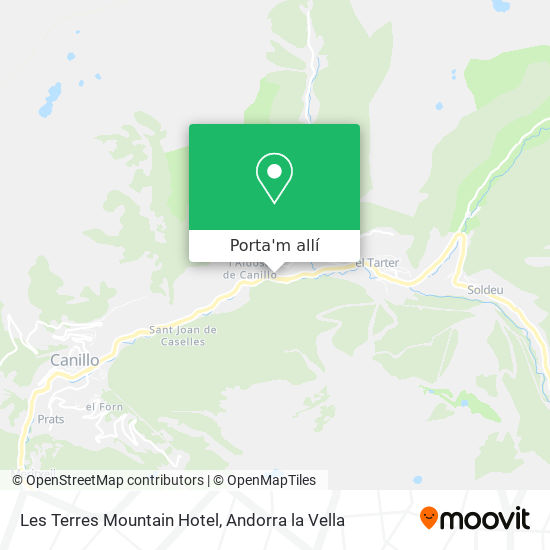 mapa Les Terres Mountain Hotel