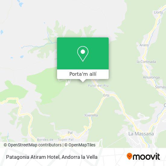 mapa Patagonia Atiram Hotel