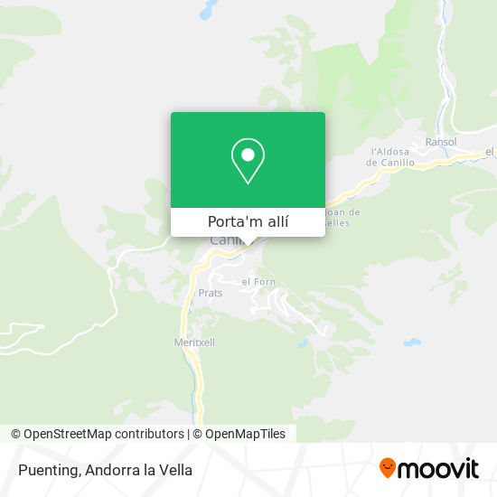 mapa Puenting