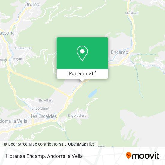 mapa Hotansa Encamp