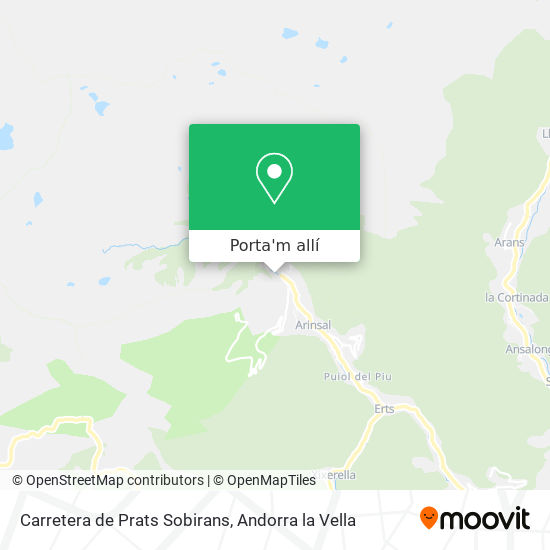 mapa Carretera de Prats Sobirans