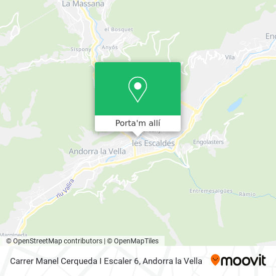 mapa Carrer Manel Cerqueda I Escaler 6