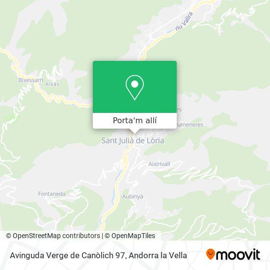 mapa Avinguda Verge de Canòlich 97