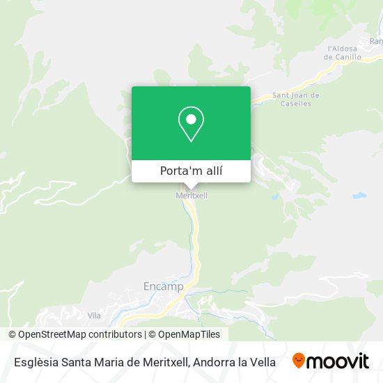 mapa Esglèsia Santa Maria de Meritxell