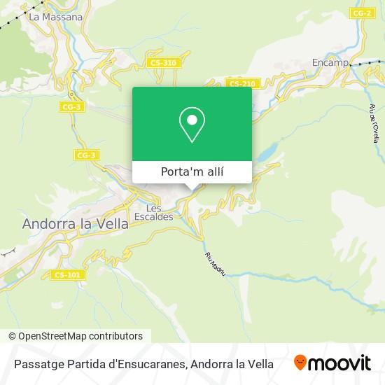 mapa Passatge Partida d'Ensucaranes