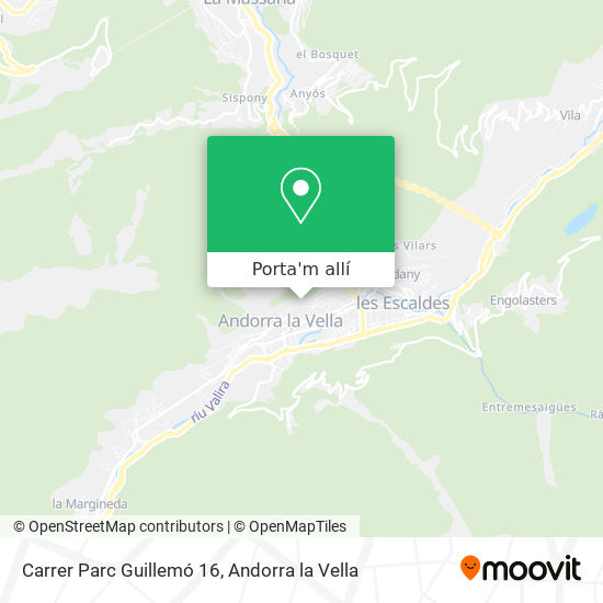 mapa Carrer Parc Guillemó 16