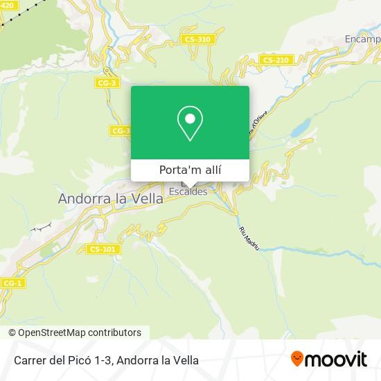 mapa Carrer del Picó 1-3