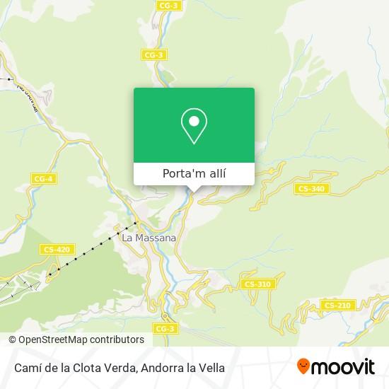 mapa Camí de la Clota Verda