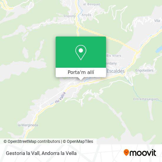 mapa Gestoria la Vall