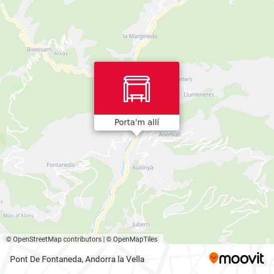 mapa Pont De Fontaneda