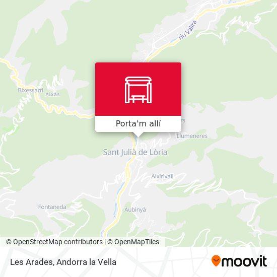 mapa Les Arades