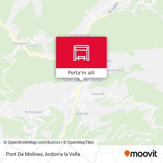 mapa Pont De Molines