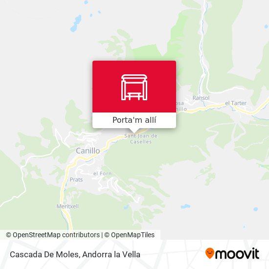 mapa Cascada De Moles
