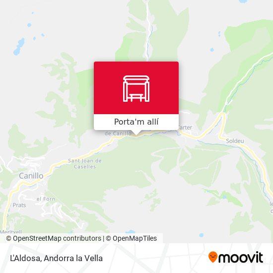 mapa L'Aldosa