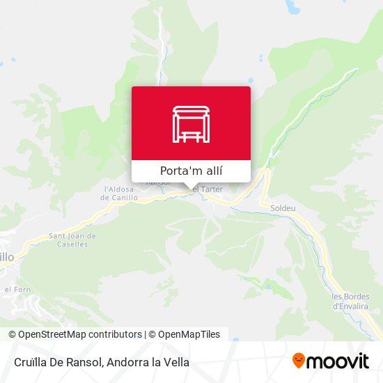 mapa Cruïlla De Ransol