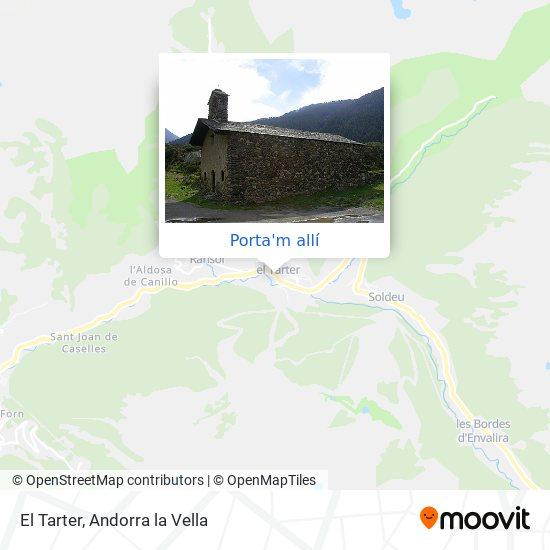 mapa El Tarter