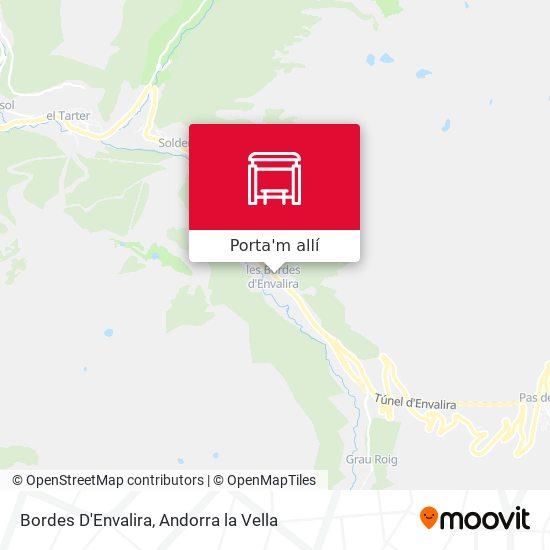 mapa Bordes D'Envalira