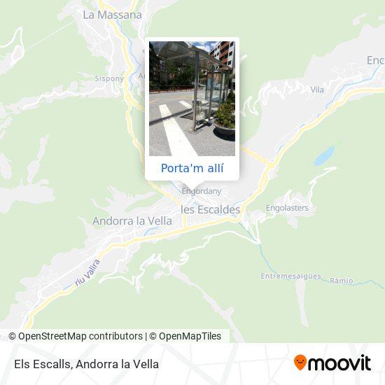 mapa Els Escalls