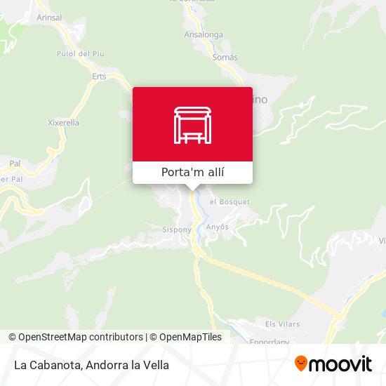 mapa La Cabanota