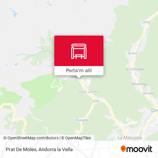 mapa Prat De Moles