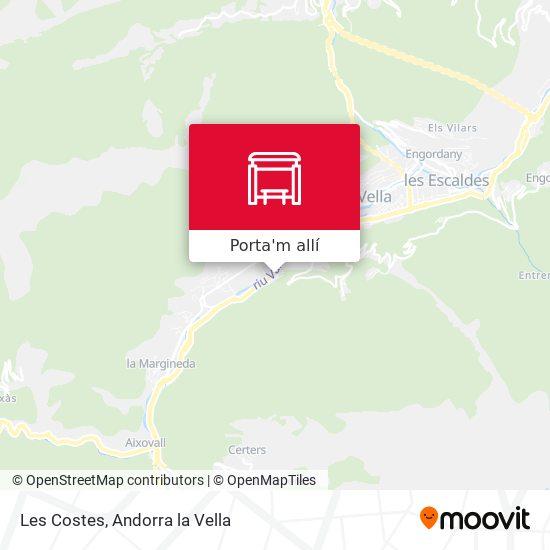 mapa Les Costes