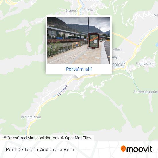 mapa Pont De Tobira