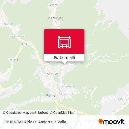 mapa Cruïlla De L'Aldosa