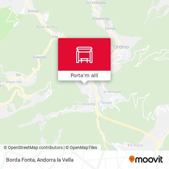 mapa Borda Fonta