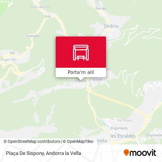 mapa Plaça De Sispony