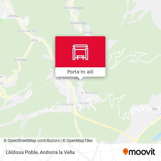 mapa L'Aldosa Poble
