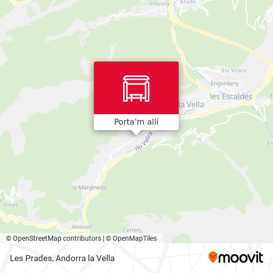 mapa Les Prades