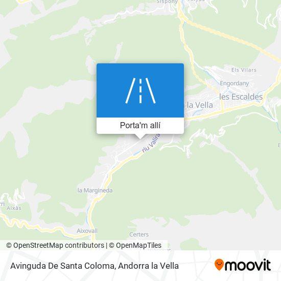 mapa Avinguda De Santa Coloma