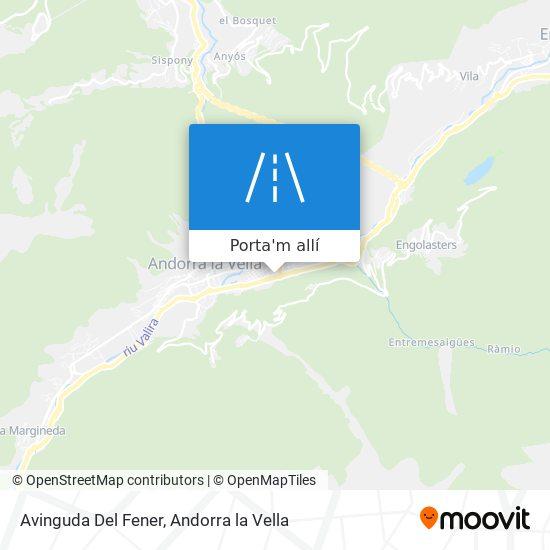 mapa Avinguda Del Fener