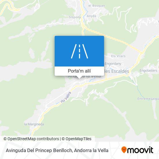 mapa Avinguda Del Princep Benlloch