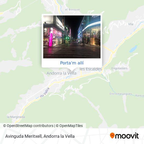 mapa Avinguda Meritxell