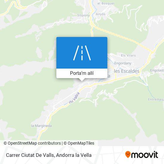 mapa Carrer Ciutat De Valls