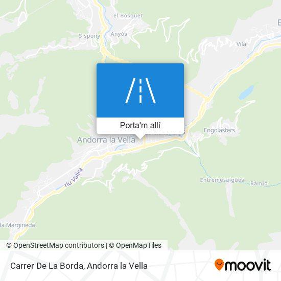 mapa Carrer De La Borda