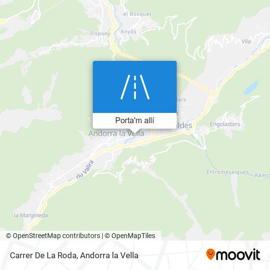 mapa Carrer De La Roda