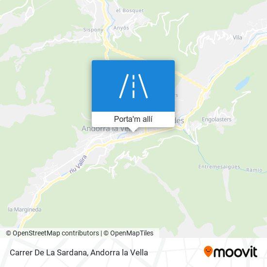 mapa Carrer De La Sardana