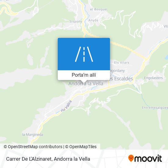 mapa Carrer De L'Alzinaret