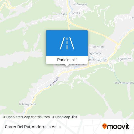 mapa Carrer Del Pui