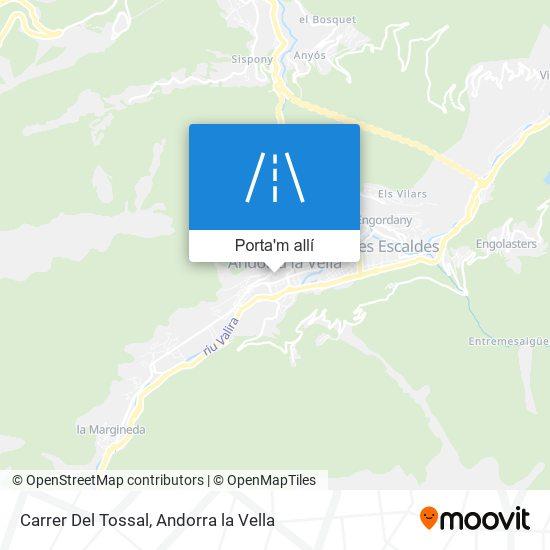 mapa Carrer Del Tossal