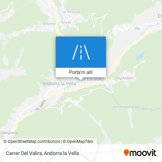mapa Carrer Del Valira